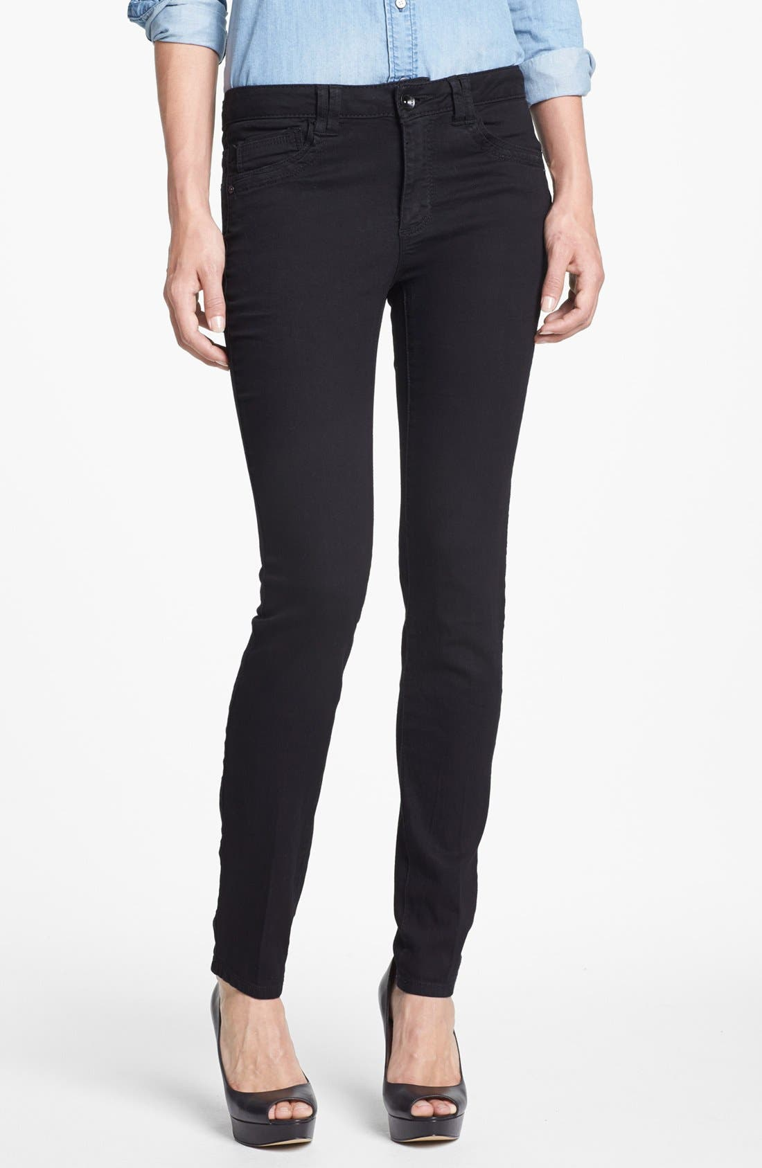 Main Image - Wit & Wisdom Skinny Jeans (Black) (Nordstrom Exclusive)
