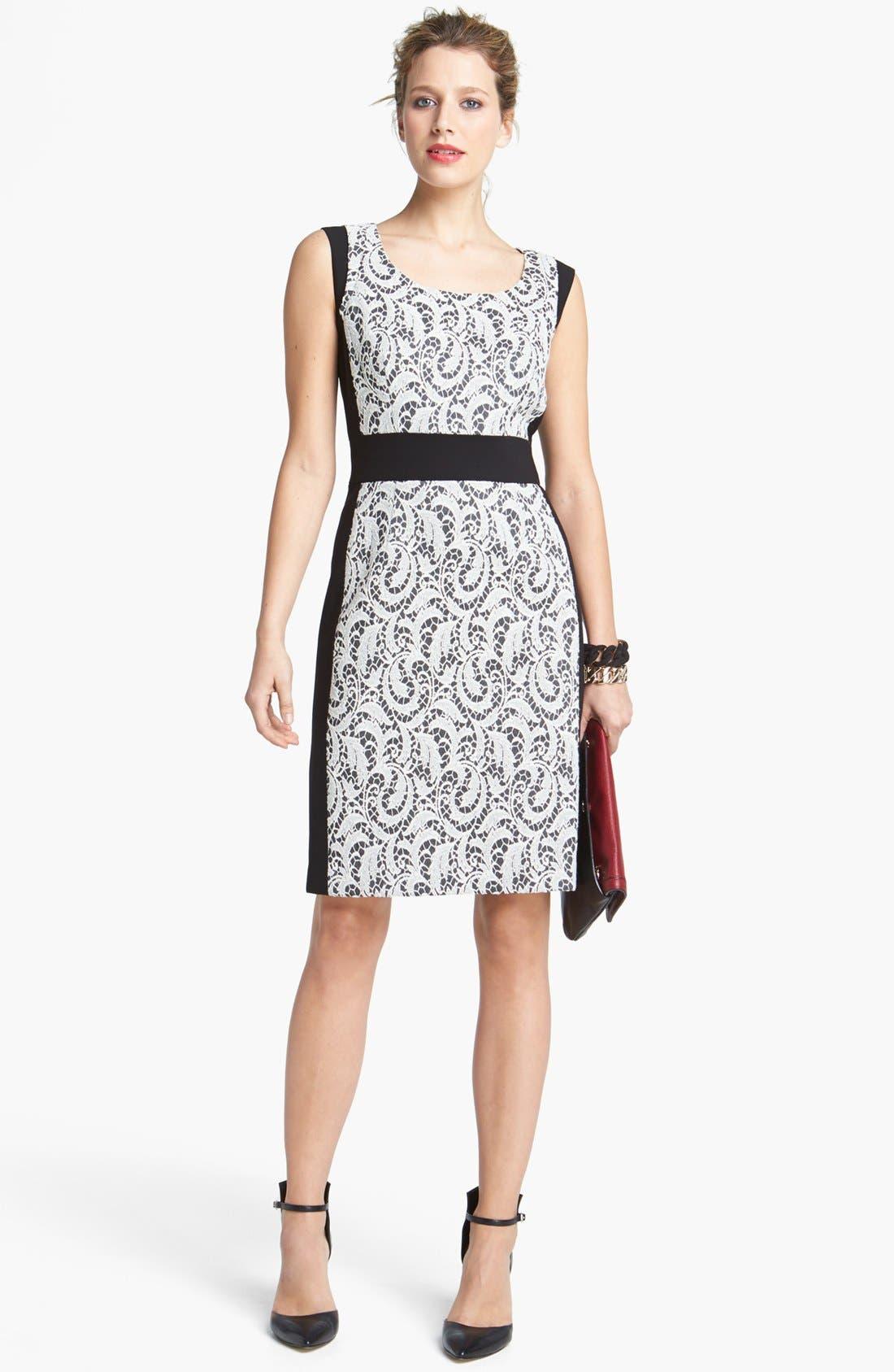 Alternate Image 4  - Lafayette 148 New York 'Ansel - Chantilly Jacquard' Dress