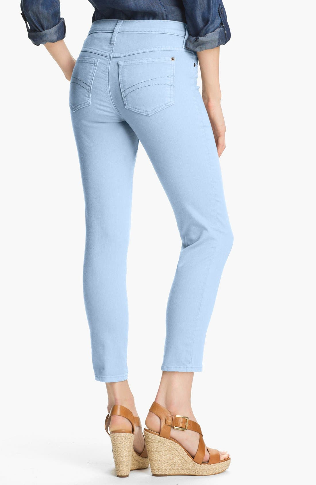 Alternate Image 2  - Second Yoga Jeans Skinny Ankle Jeans