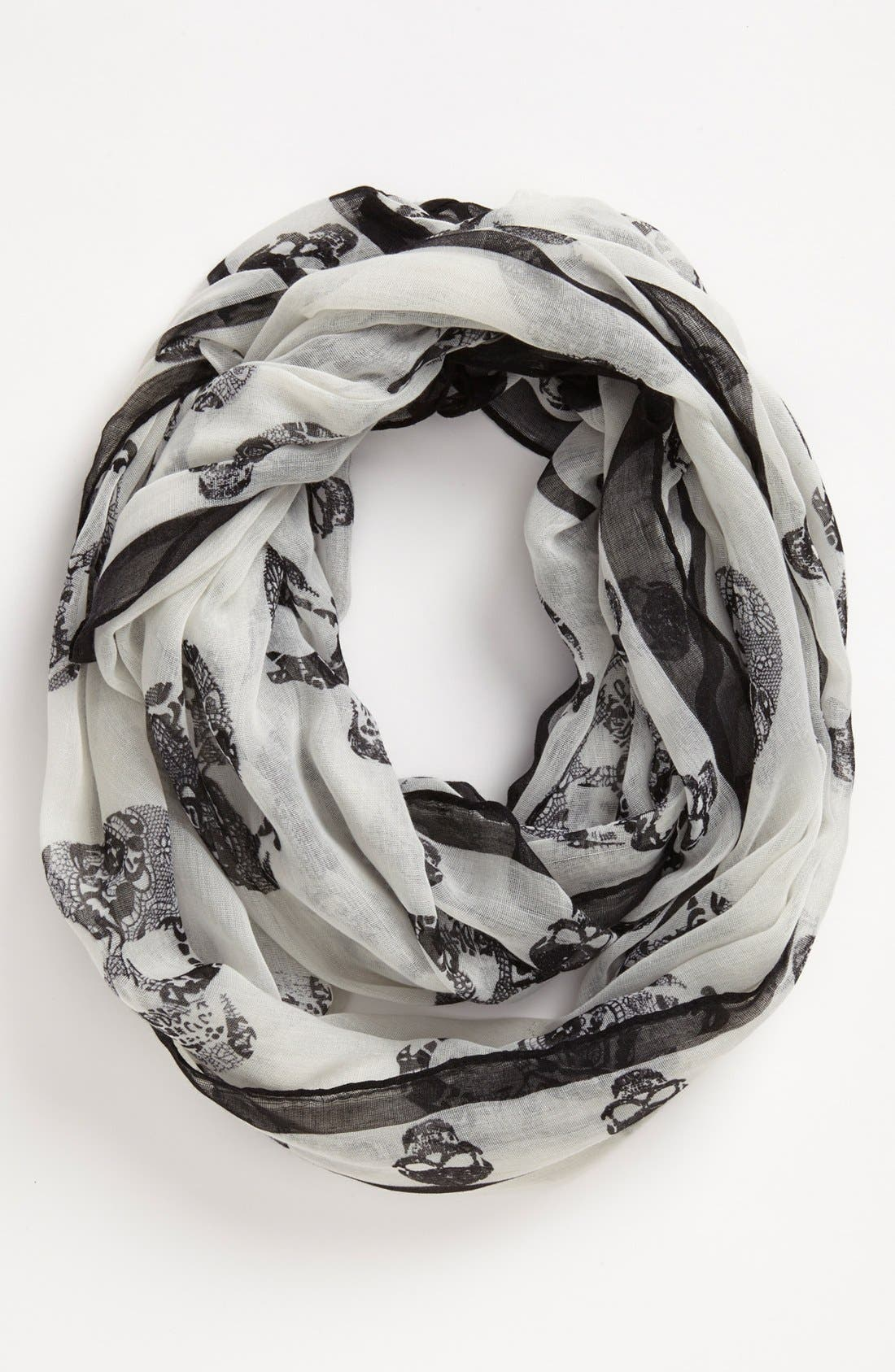 Alternate Image 1 Selected - Natasha Couture 'Skull' Infinity Scarf
