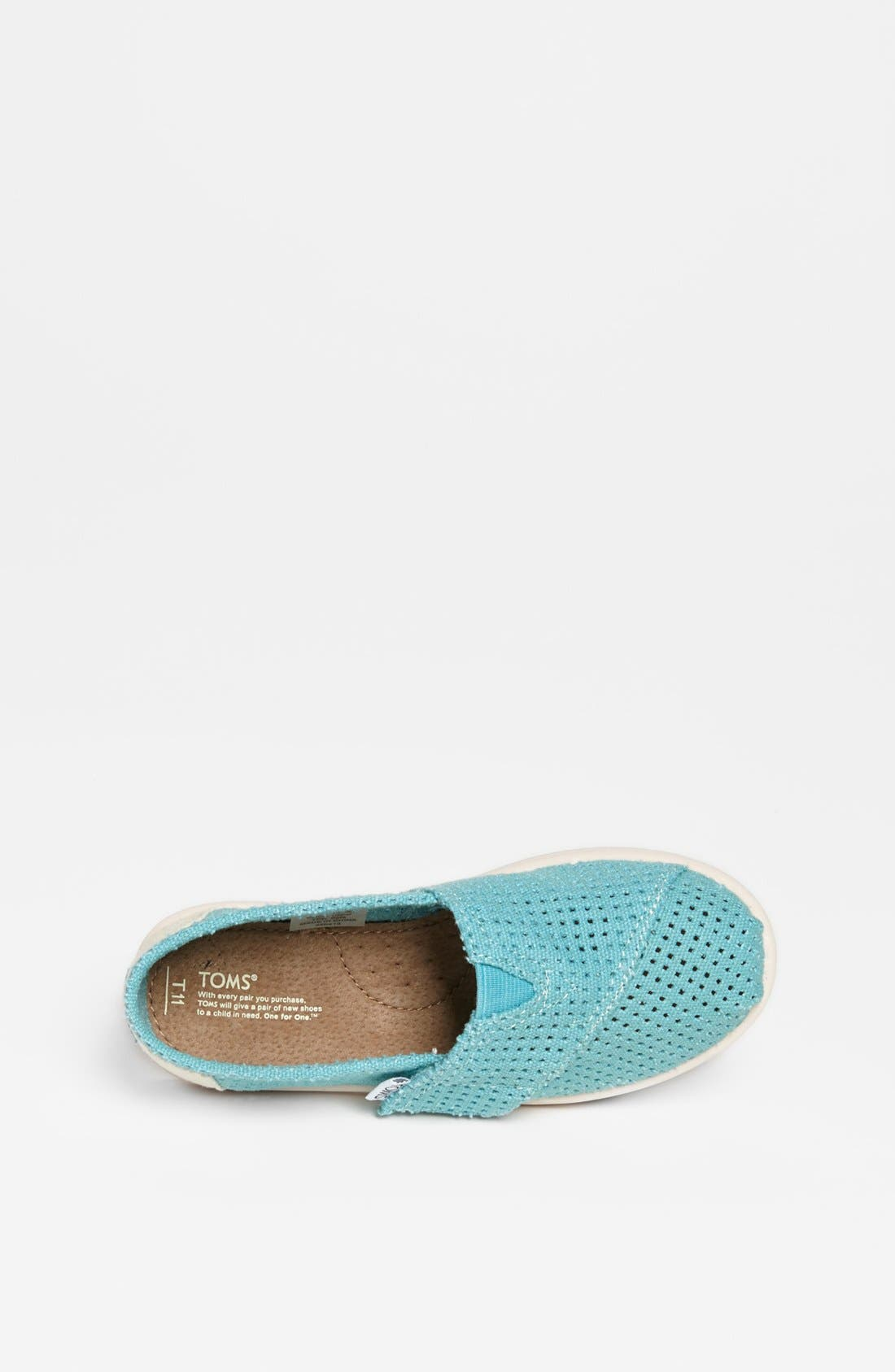 Alternate Image 3  - TOMS 'Classic - Tiny' Perforated Slip-On (Baby, Walker & Toddler)