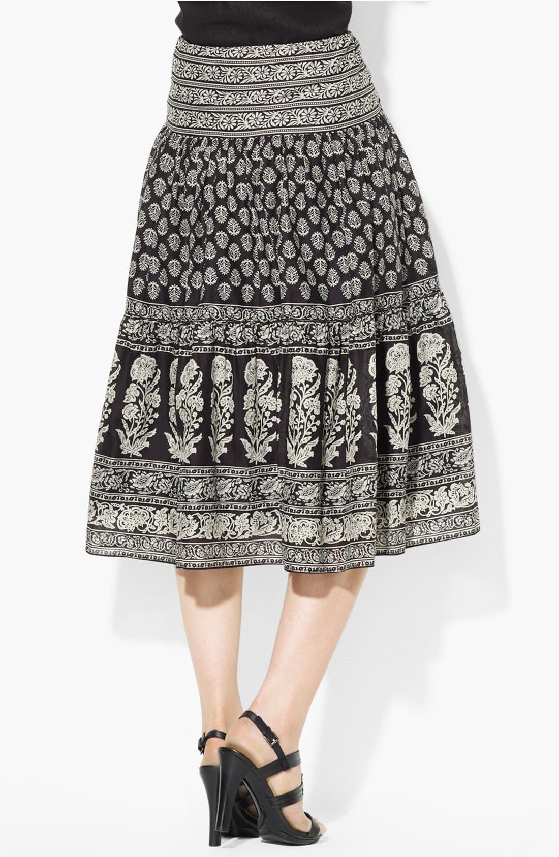 Alternate Image 2  - Lauren Ralph Lauren Tiered Cotton Skirt
