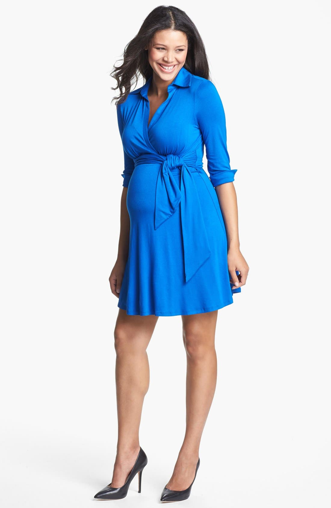 Alternate Image 1 Selected - Maternal America Maternity Shirtdress