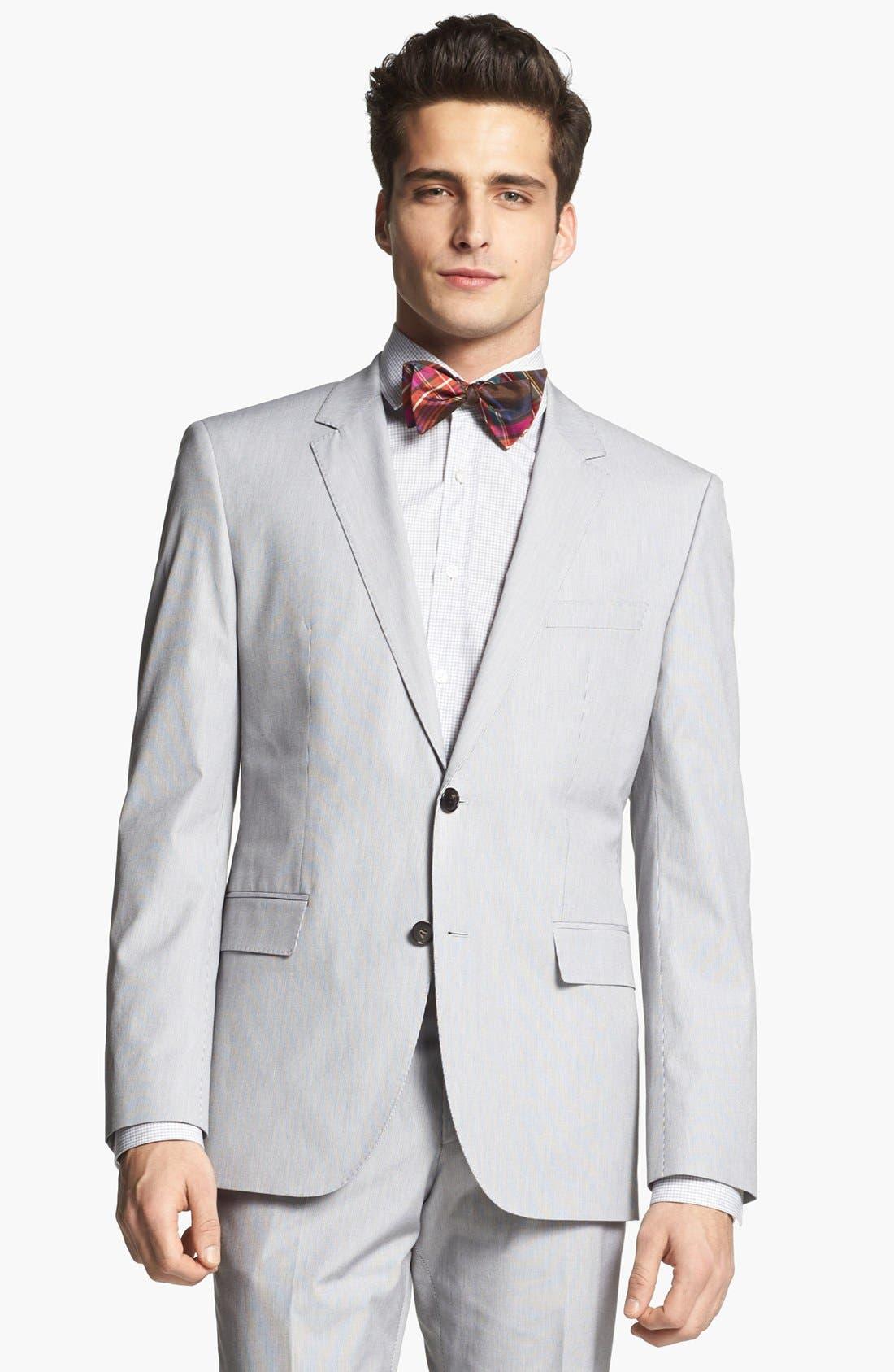 Alternate Image 4  - BOSS HUGO BOSS 'James/Sharp' Trim Fit Stripe Suit