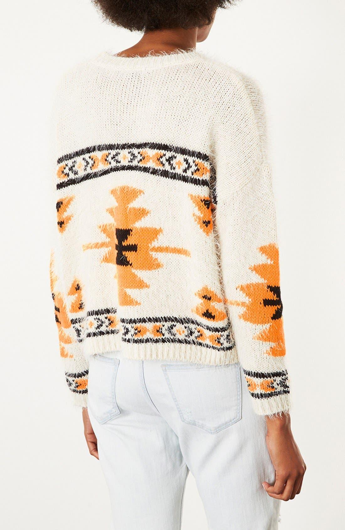 Alternate Image 2  - Topshop Geometric Print Sweater