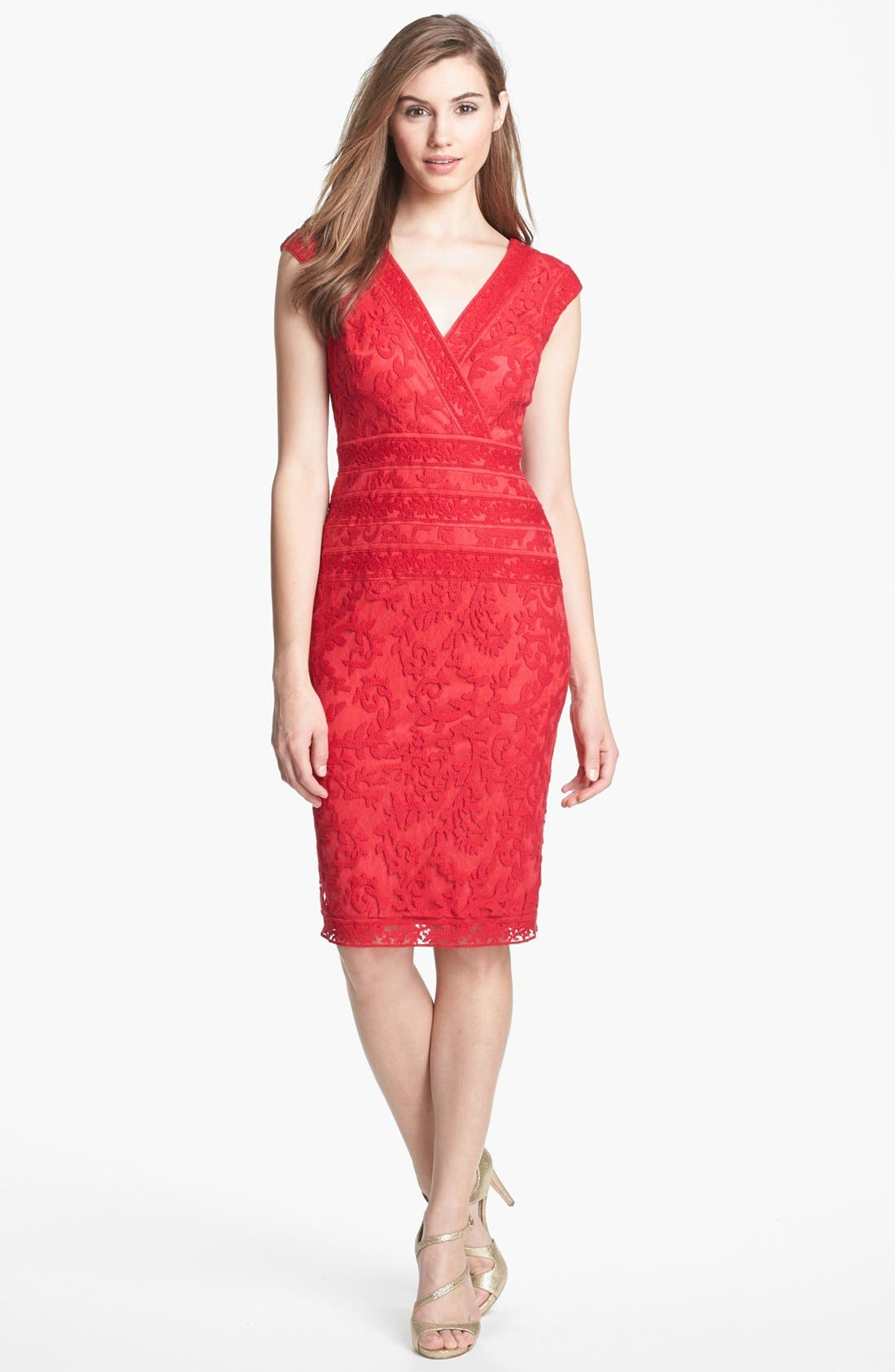 Alternate Image 3  - Tadashi Shoji Embroidered Dress