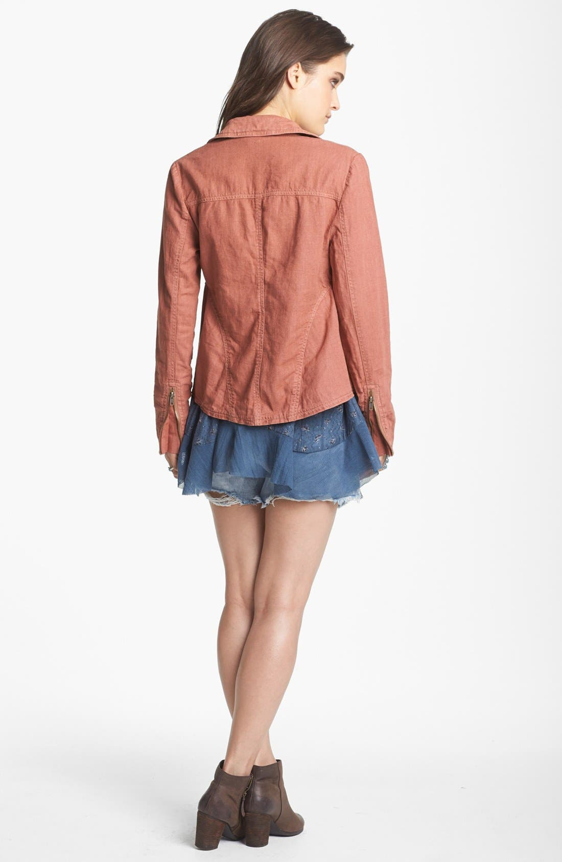 Alternate Image 2  - Free People Textured Linen Blend Jacket