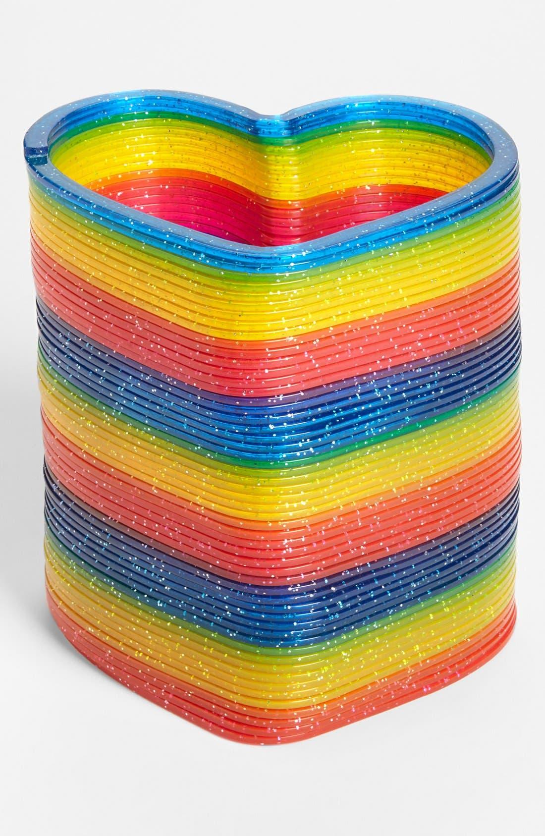 Alternate Image 2  - Master Toys Glitter Heart Slinky, Large
