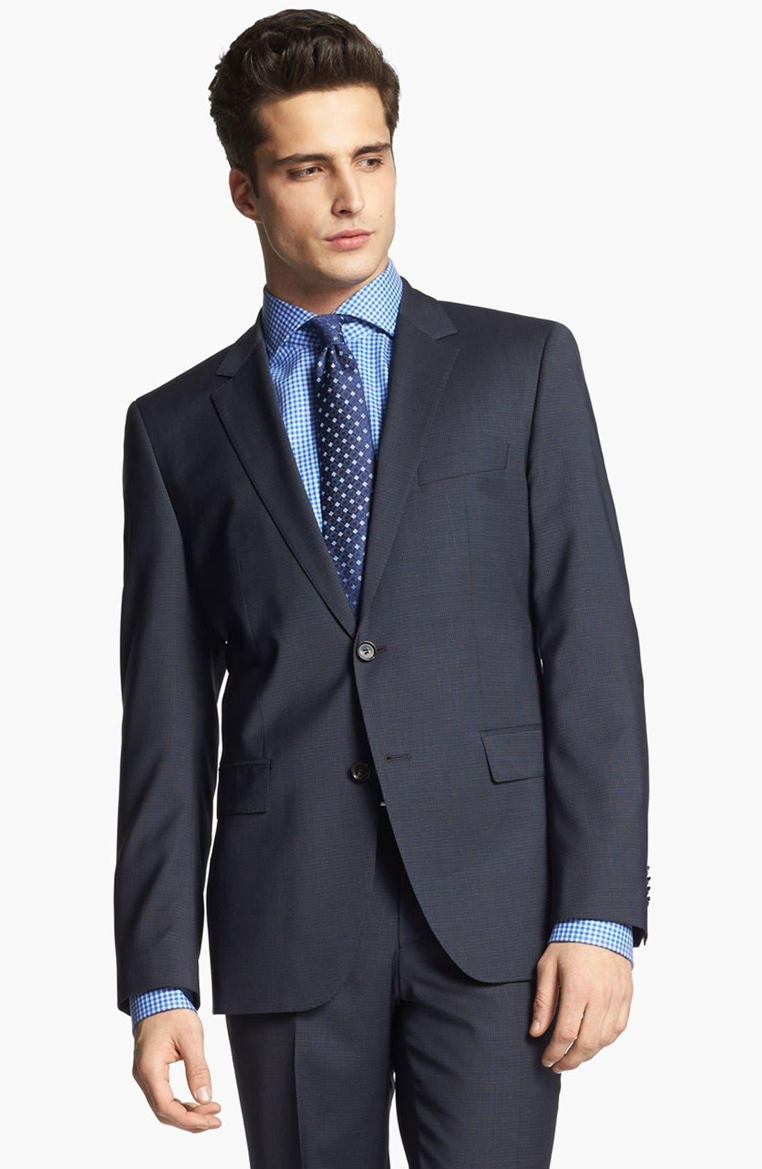 Alternate Image 3  - BOSS HUGO BOSS 'James/Sharp' Trim Fit Check Suit