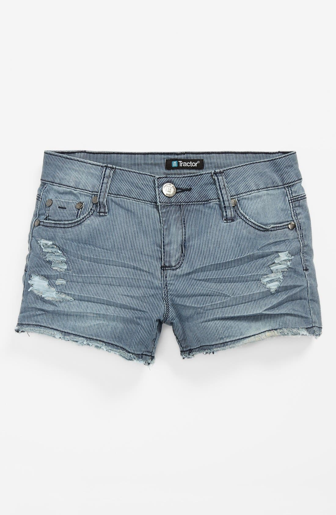 Main Image - Tractr Railroad Shorts (Big Girls)