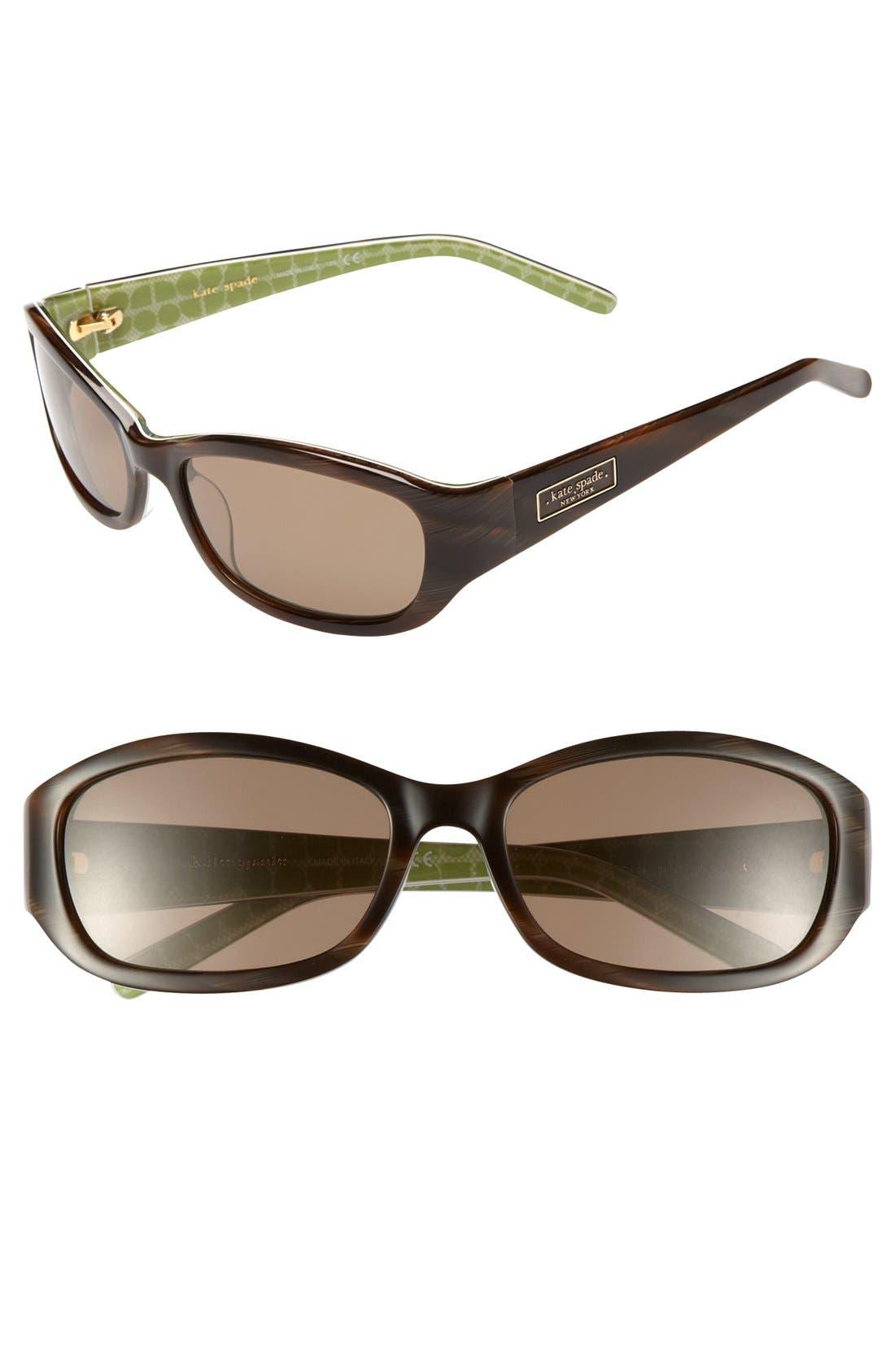 Alternate Image 1 Selected - kate spade 'dee' two-tone 54mm sunglasses