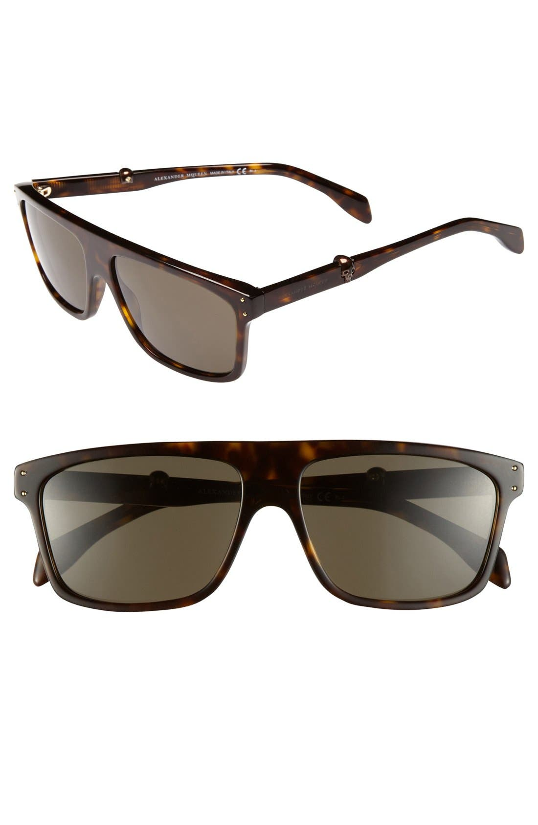 Main Image - Alexander McQueen 57mm Sunglasses