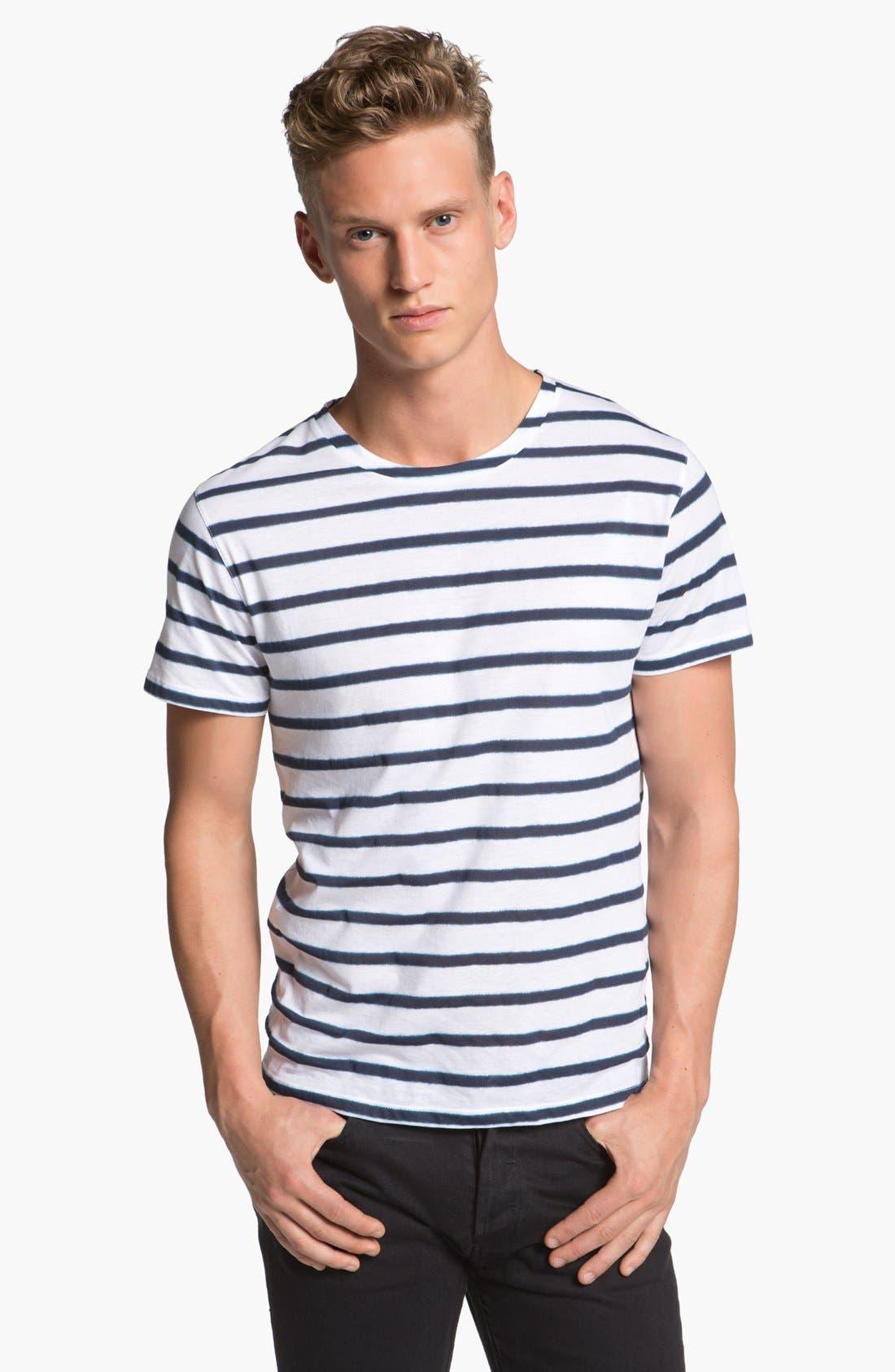 Main Image - A.P.C. Stripe Crewneck T-Shirt