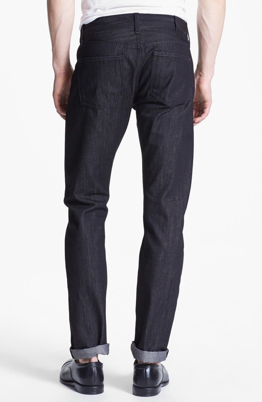 Alternate Image 2  - J Brand 'Tyler' Slim Fit Jeans (Black Raw)