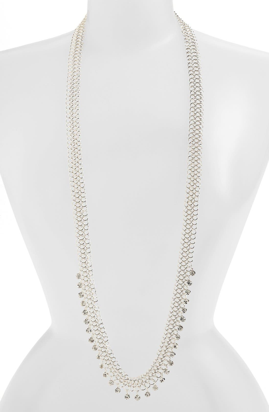 Alternate Image 2  - Anne Klein Long Mesh Necklace