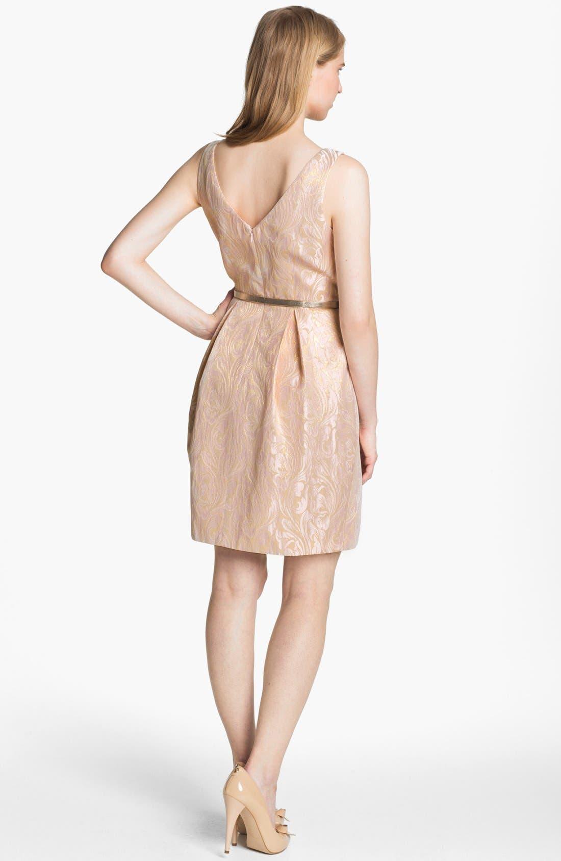 Alternate Image 2  - Eliza J Sleeveless Brocade Fit & Flare Dress