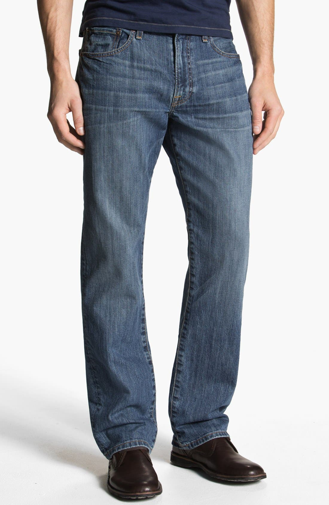 Main Image - Lucky Brand '329' Classic Straight Leg Jeans (Sandy)