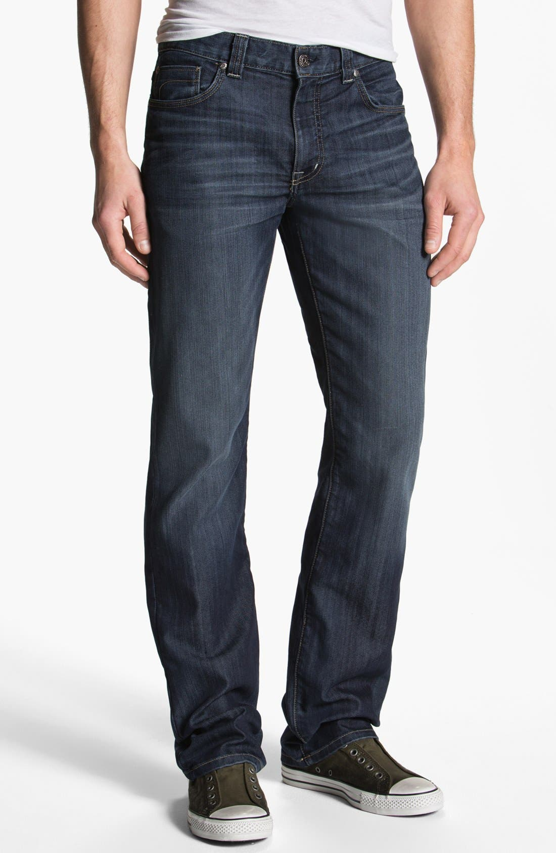 Alternate Image 1 Selected - Fidelity Denim '5011' Straight Leg Jeans (Petrol Blue)