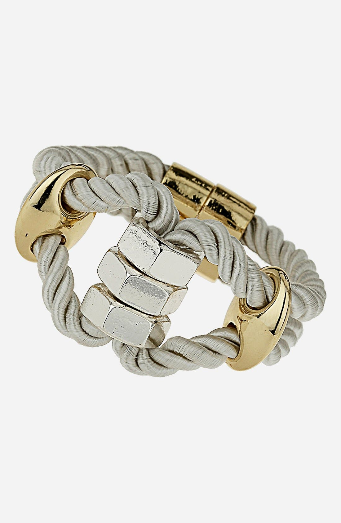 Main Image - Topshop Metal & Rope Bracelet