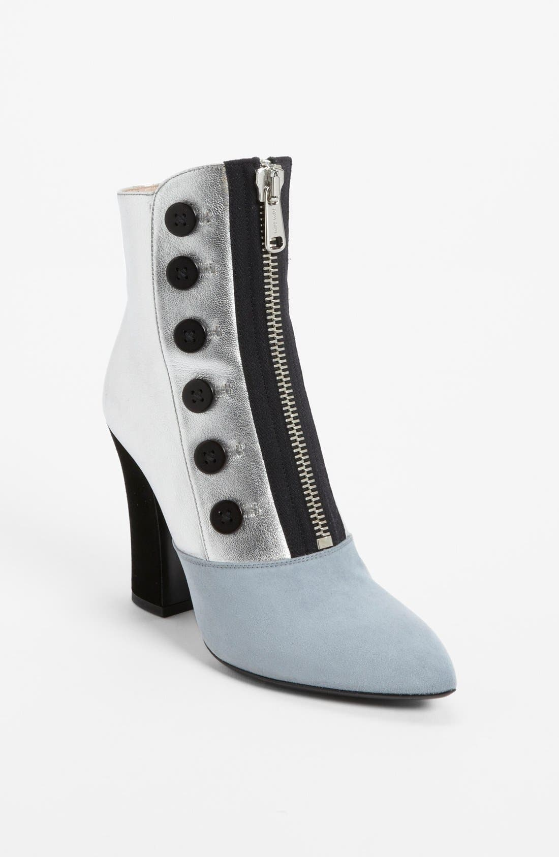 Alternate Image 1 Selected - Miu Miu Front Zip Pointy Toe Bootie (Women)