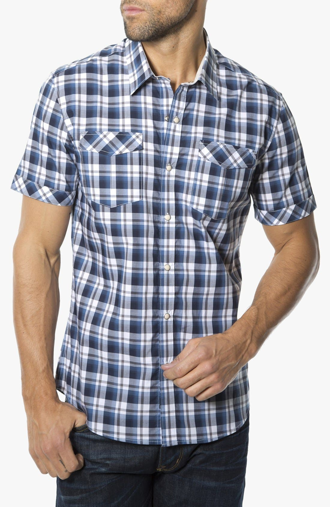 Main Image - 7 Diamonds 'Best Thing for Me' Woven Short Sleeve Shirt