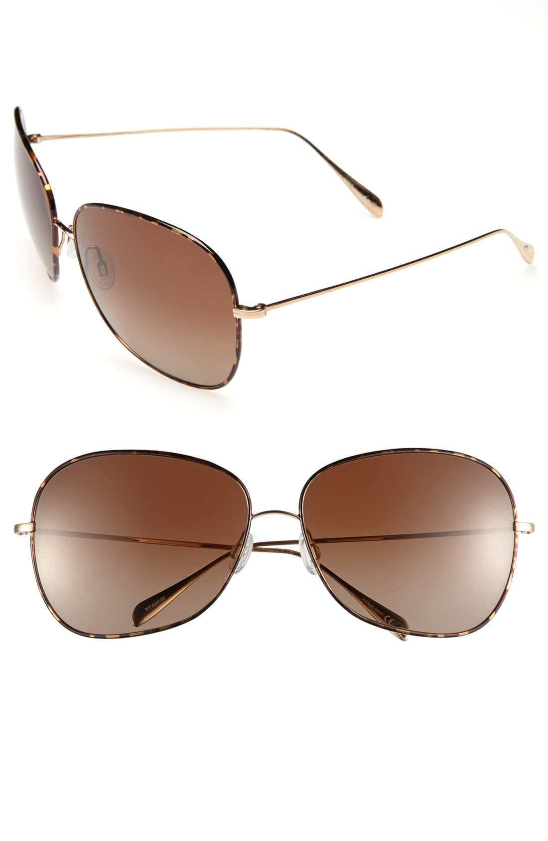 Alternate Image 1 Selected - Oliver Peoples 'Elsie' 64mm Polarized Sunglasses