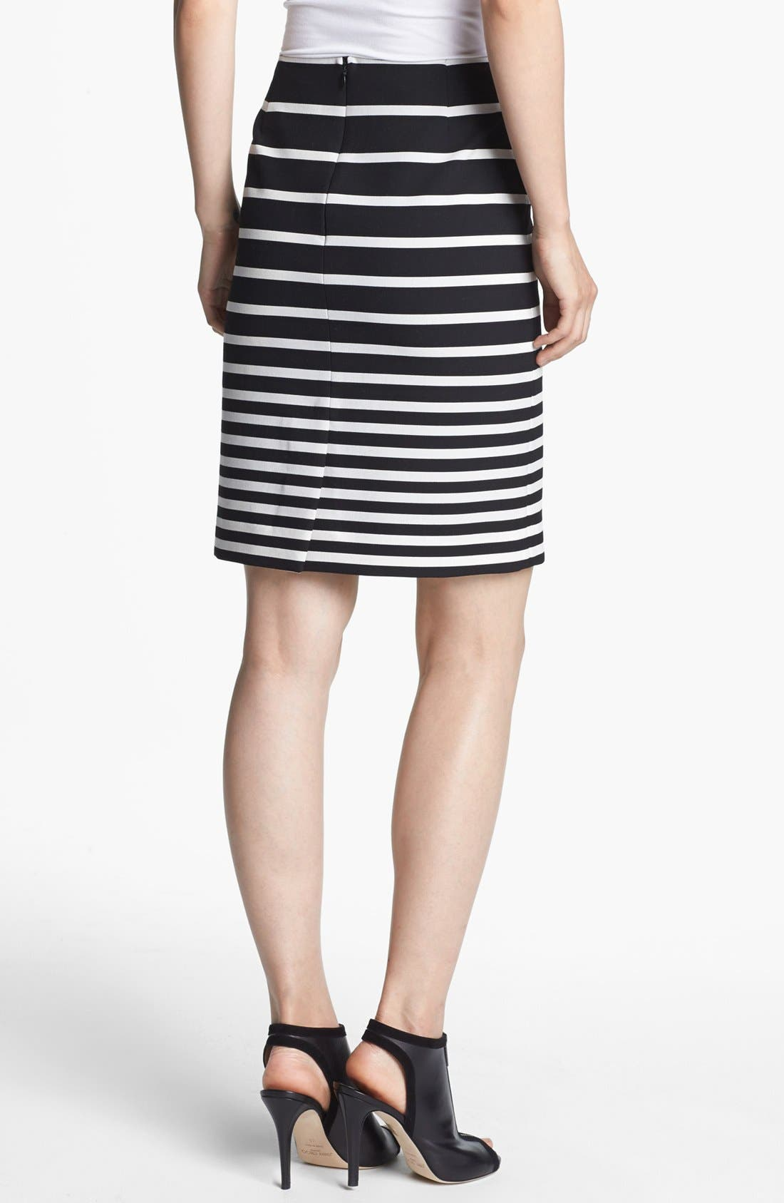 Alternate Image 3  - Halston Heritage Stripe Knit Pencil Skirt
