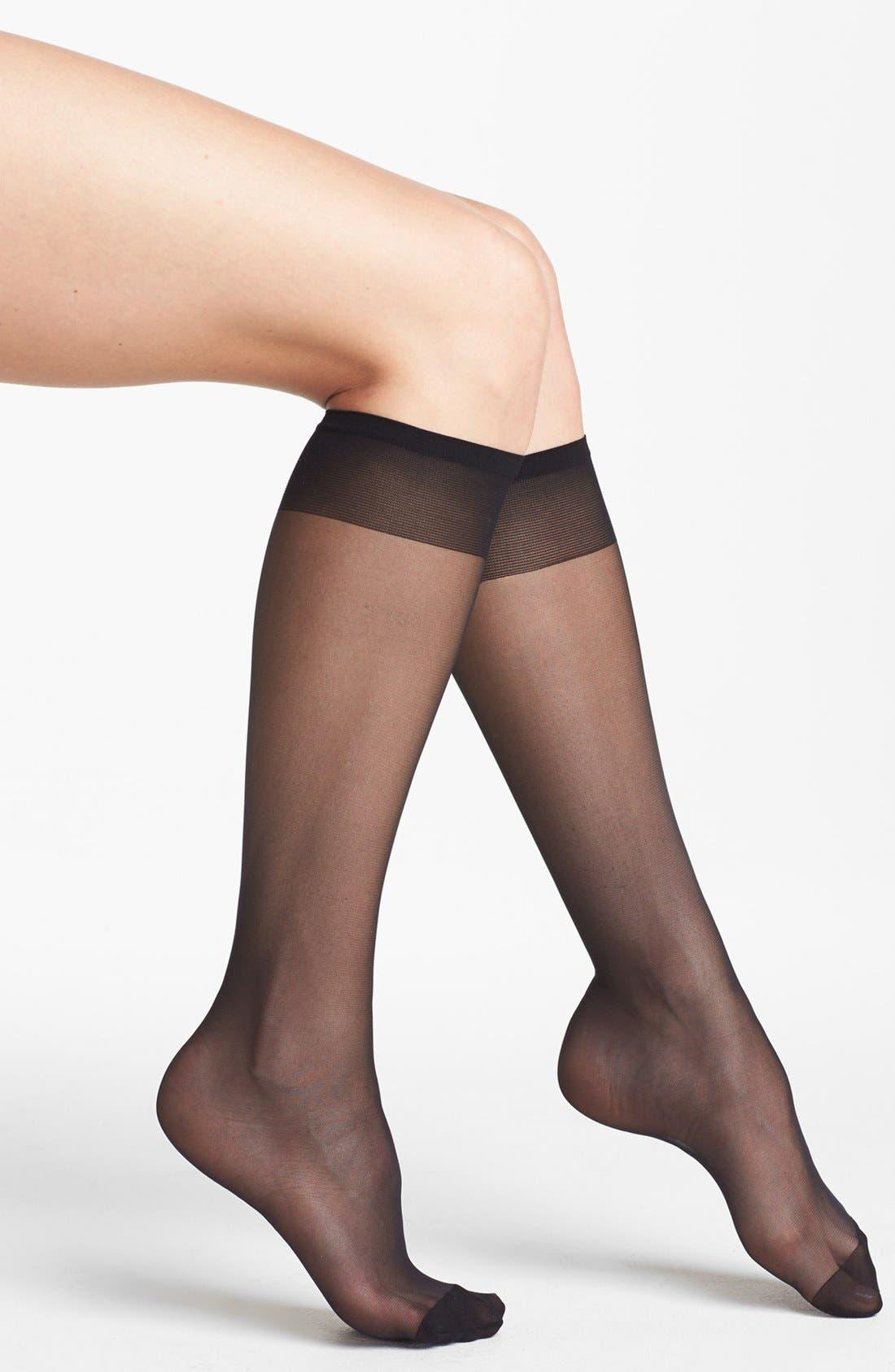 Alternate Image 1 Selected - Nordstrom Sheer Knee High Trouser Socks