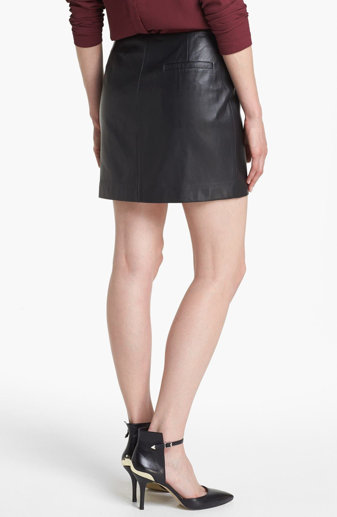 Alternate Image 2  - Leith Leather Wrap Skirt