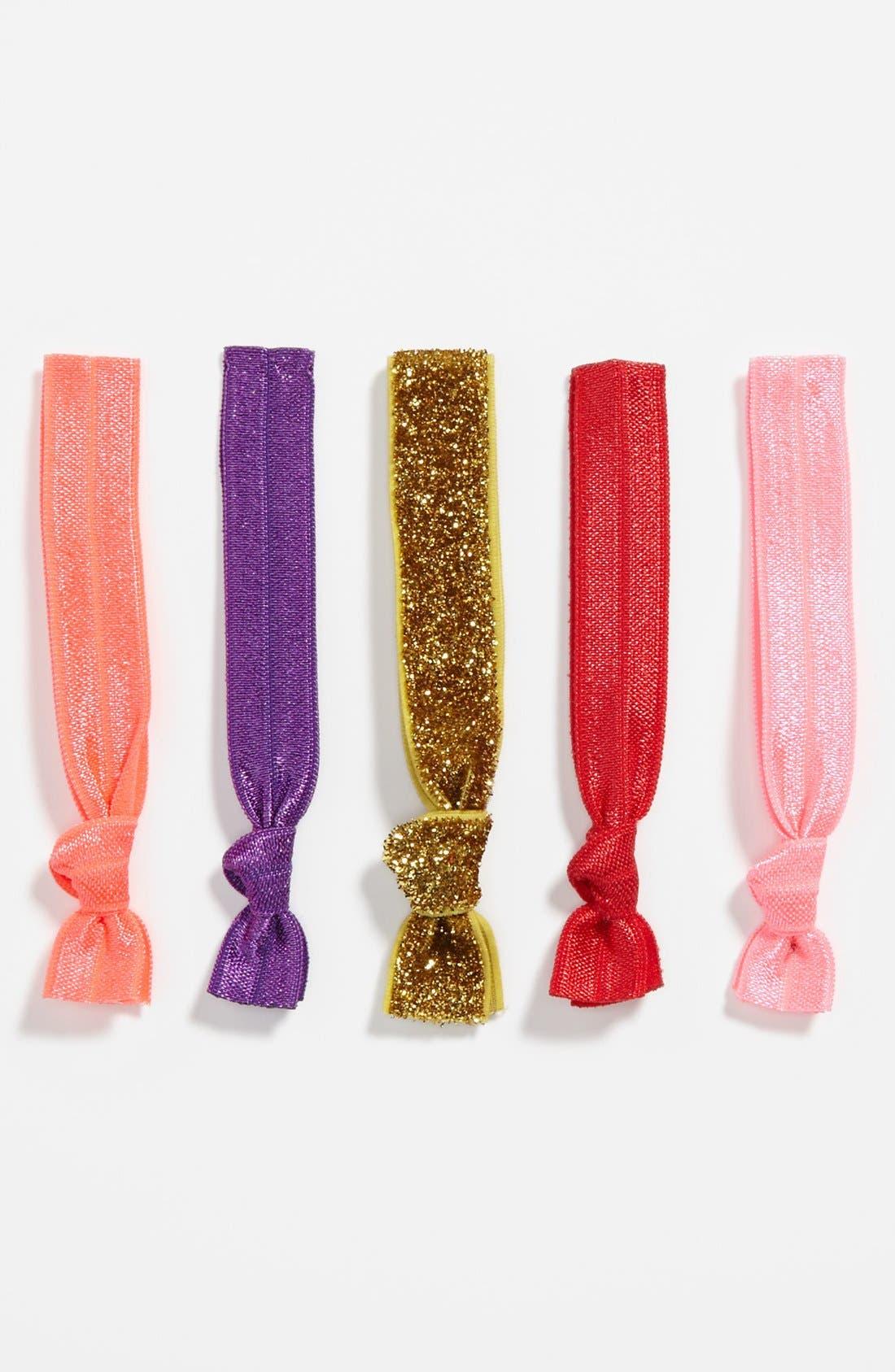 Alternate Image 1 Selected - Kitsch Hair Ties (5-Pack) (Girls)