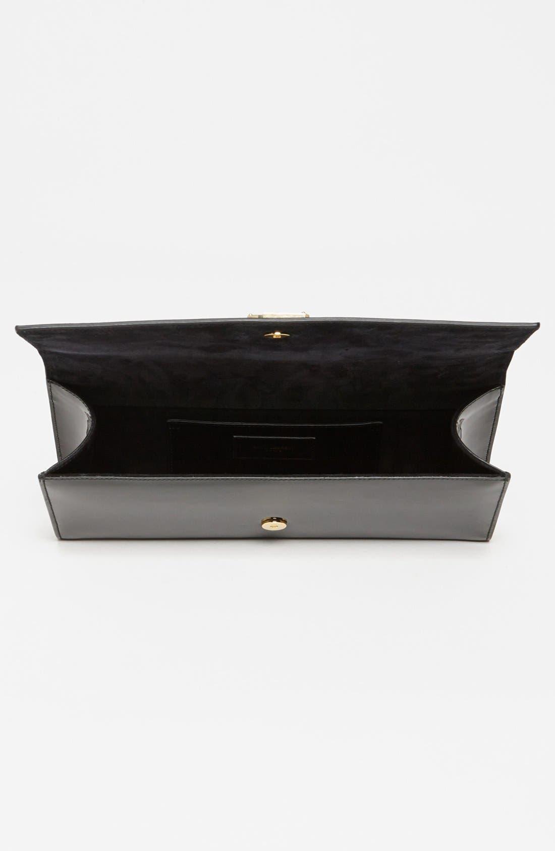 Alternate Image 3  - Saint Laurent 'Cassandre - Laque' Leather Clutch