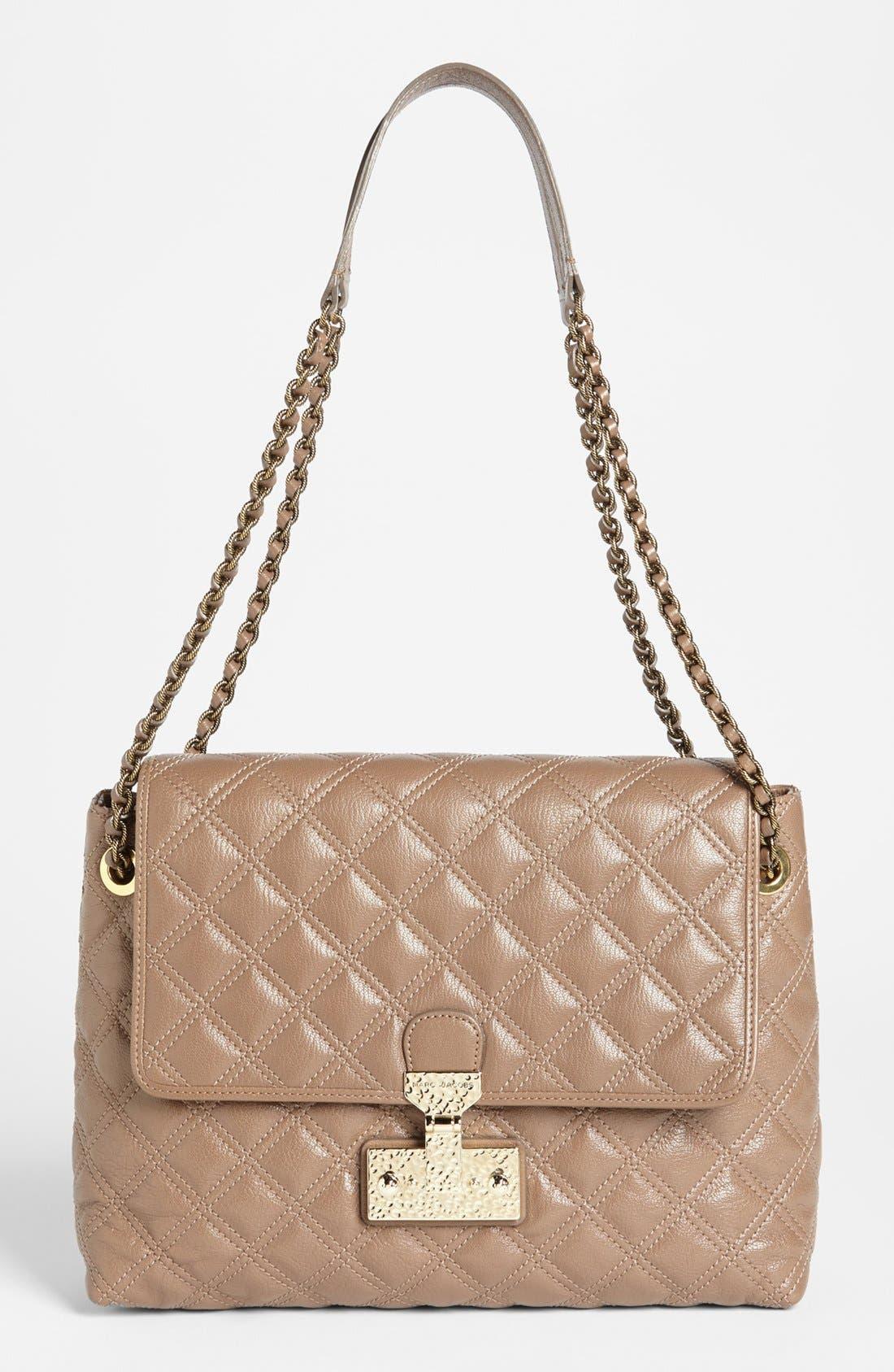 Alternate Image 1 Selected - MARC JACOBS 'Baroque XL Single' Leather Shoulder Bag