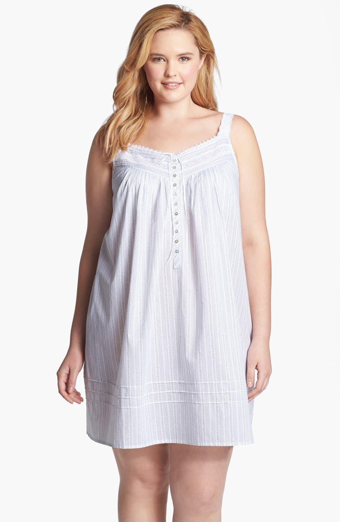 Main Image - Eileen West 'Moonlit Shores' Short Nightgown (Plus Size)