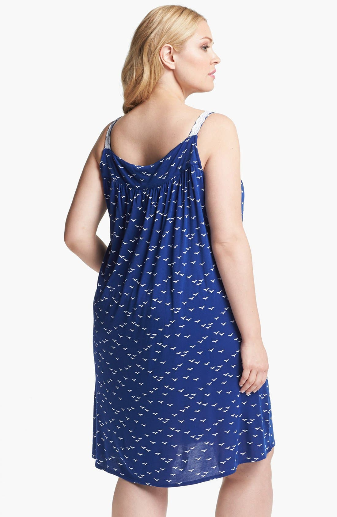 Alternate Image 2  - Eileen West 'Set Sail' Sleeveless Nightgown (Plus Size)