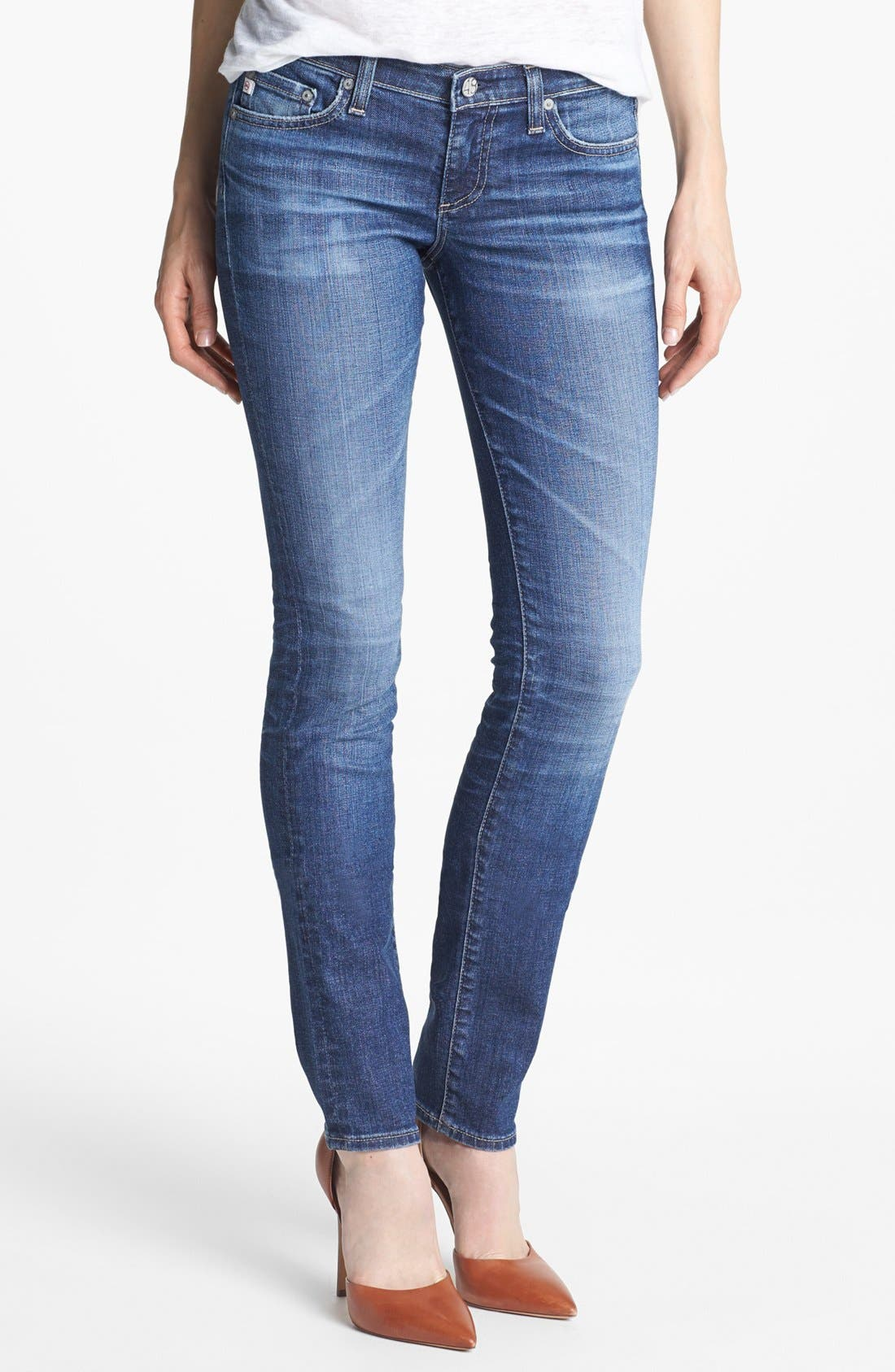 Alternate Image 1 Selected - AG 'Aubrey' Skinny Straight Leg Jeans (10 Year Daybreaker)