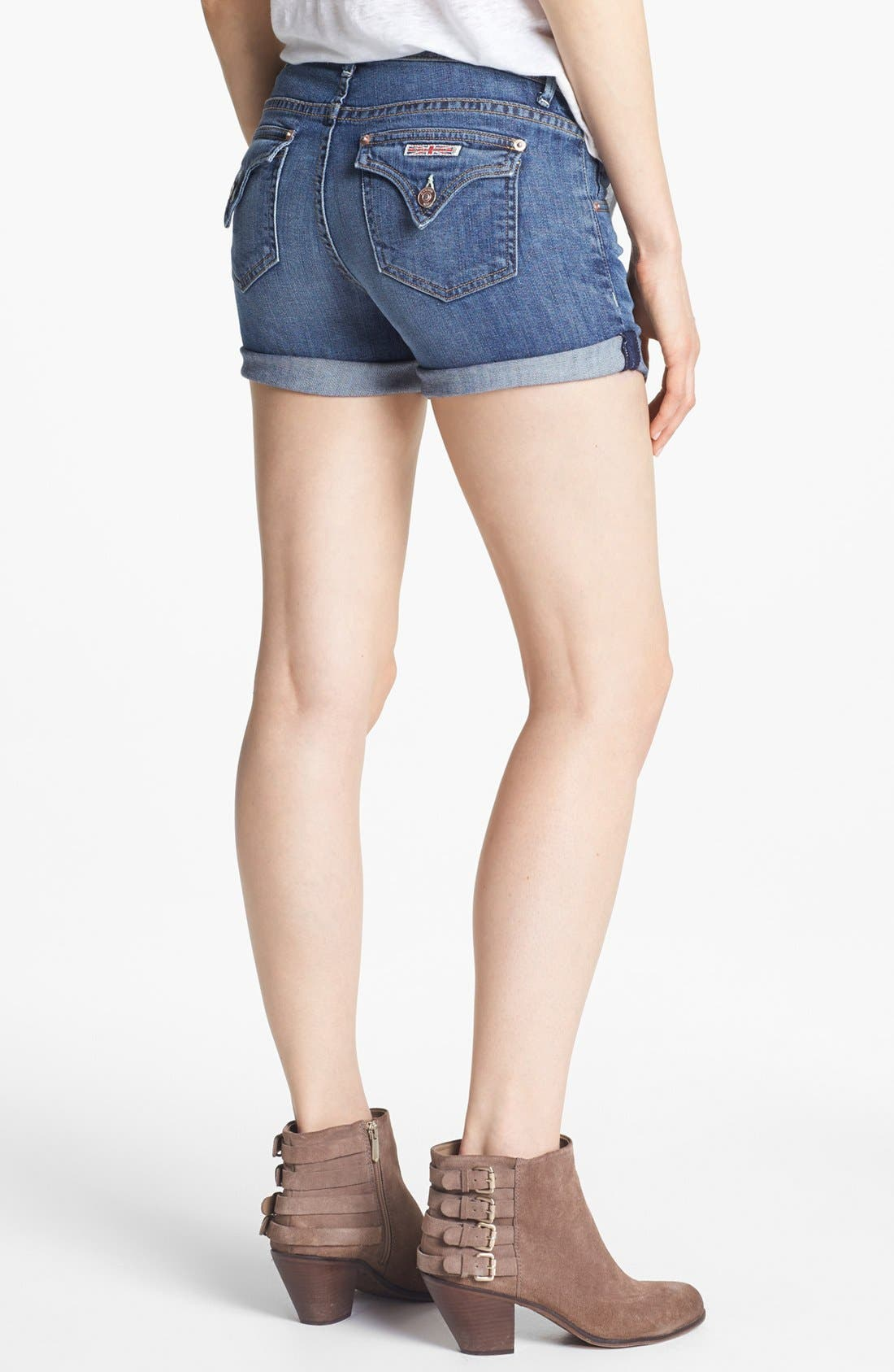 Cuff Denim Shorts,                             Alternate thumbnail 2, color,                             Hackney