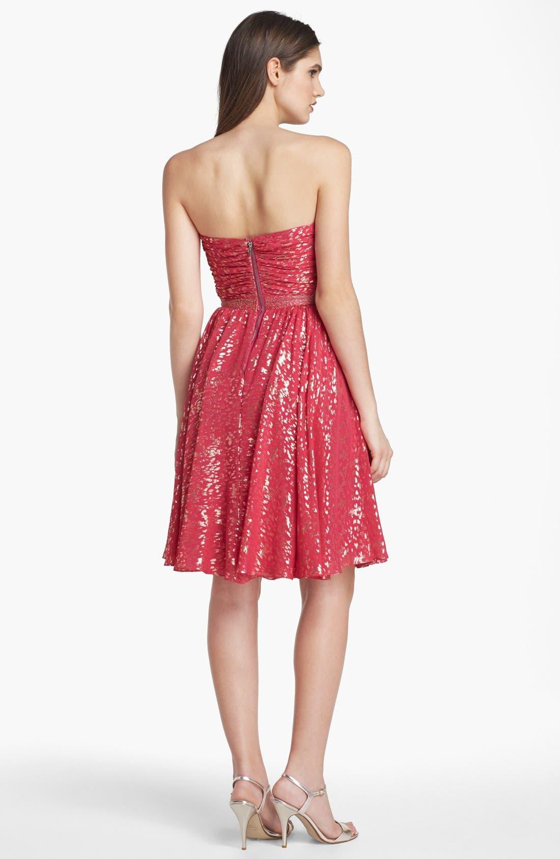 Alternate Image 2  - ERIN erin fetherston 'Laila' Metallic Silk Fit & Flare Dress