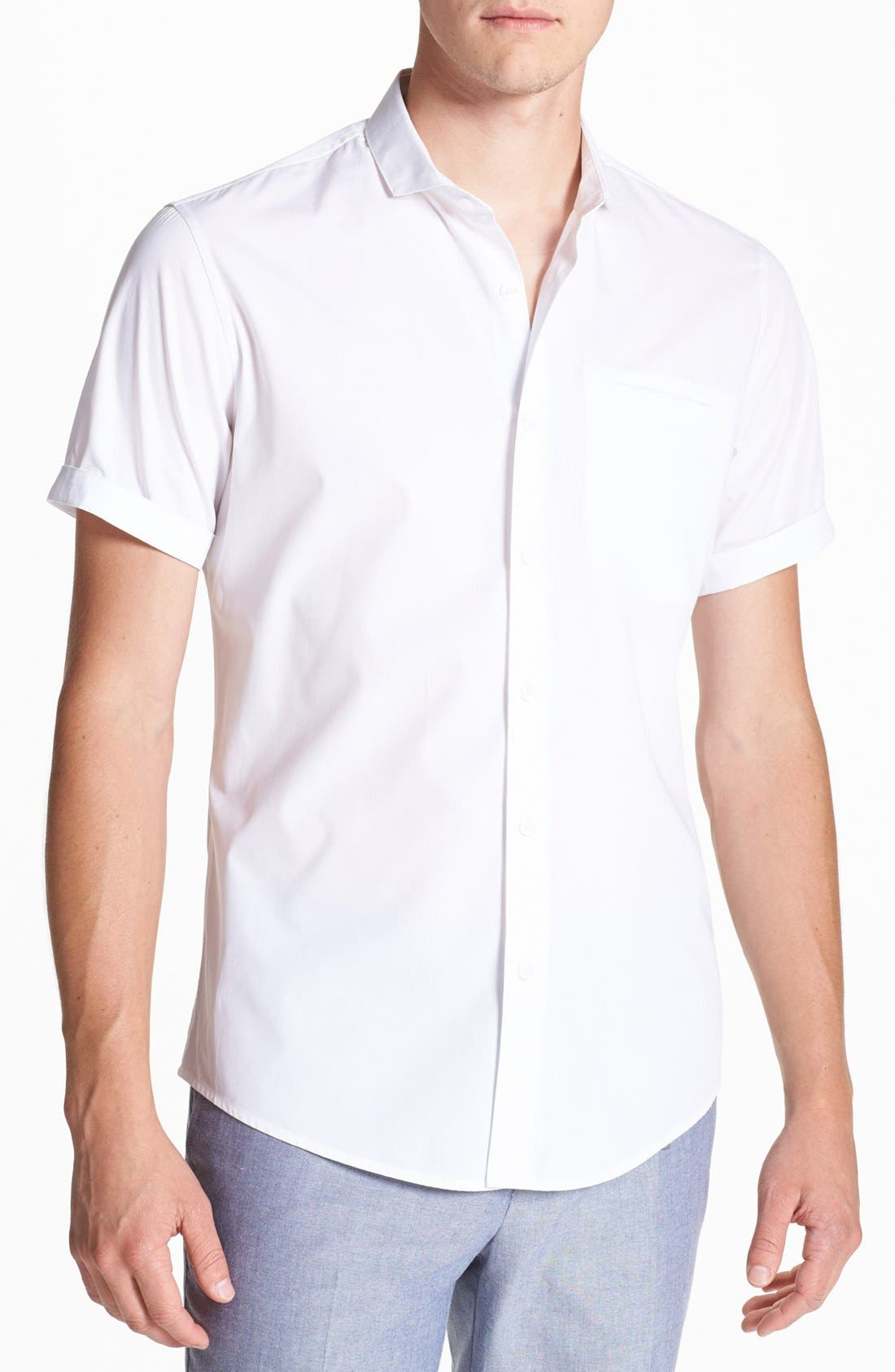 Alternate Image 1 Selected - Topman Short Sleeve Shirt