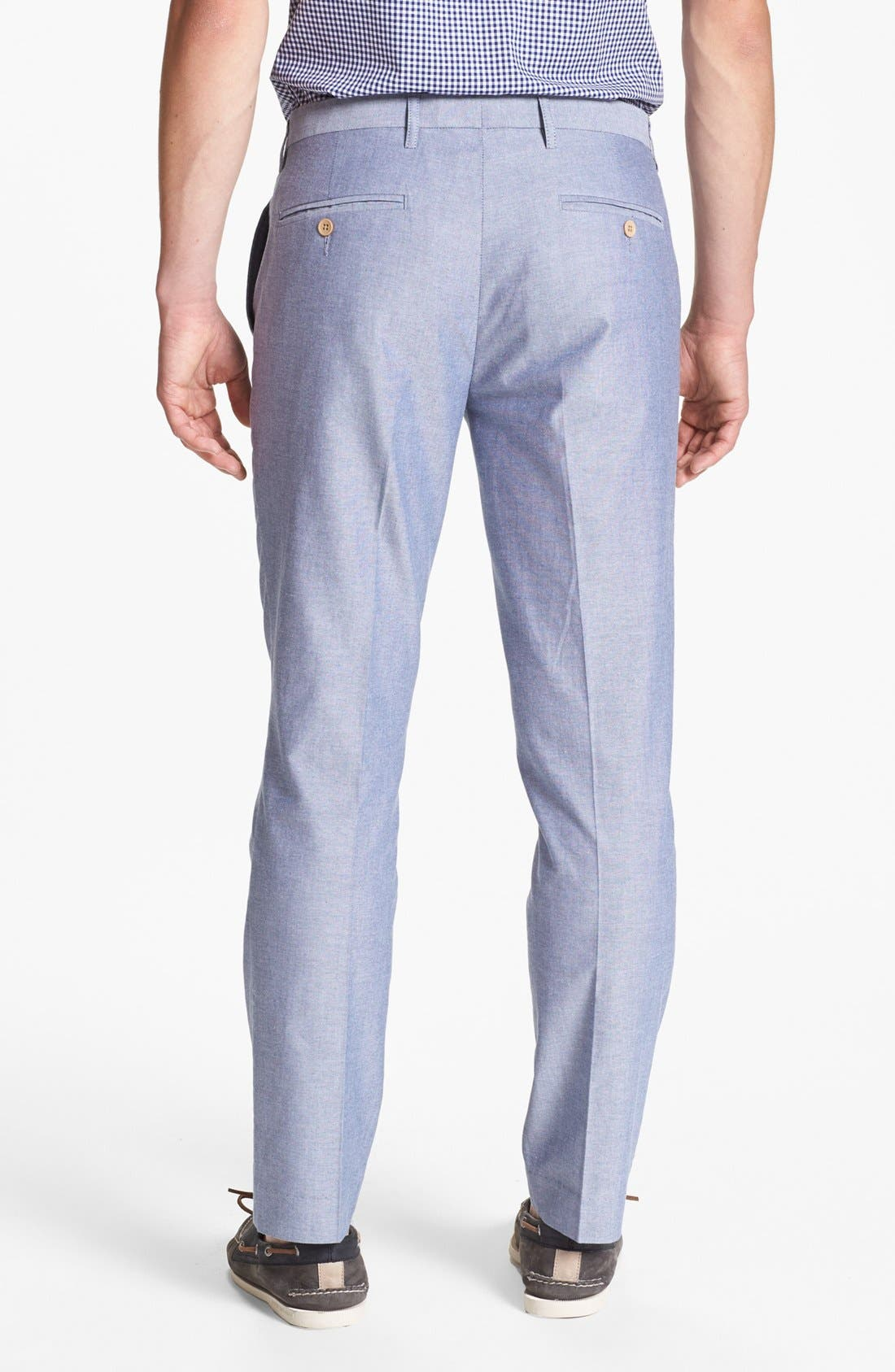Alternate Image 2  - Topman Skinny Fit Oxford Trousers