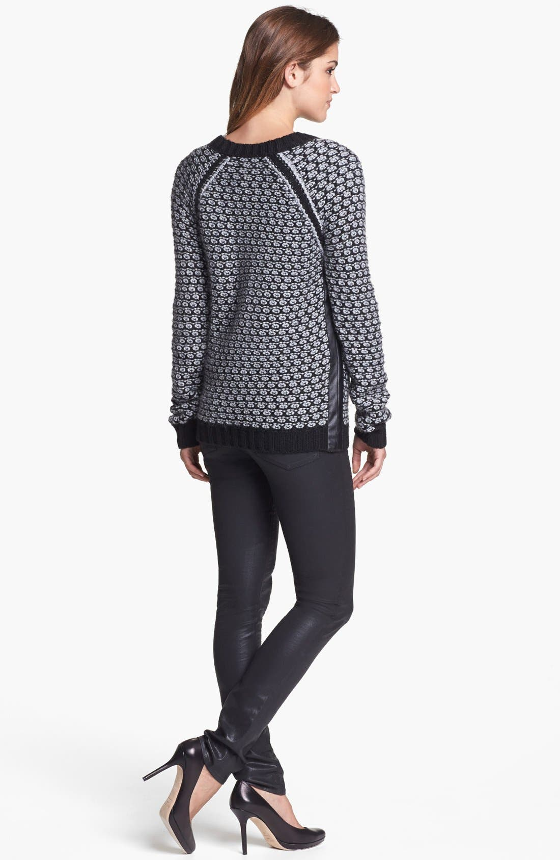 Alternate Image 3  - Two by Vince Camuto Side Zip Honeycomb Knit Sweater