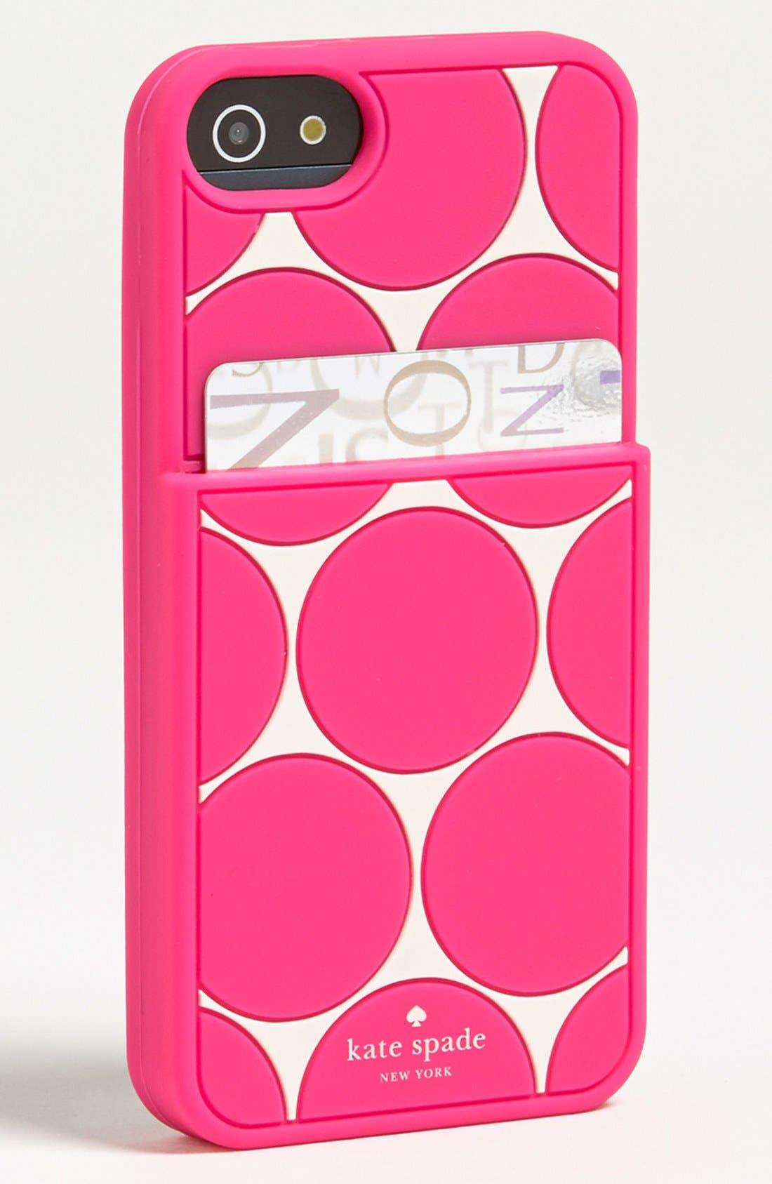 Alternate Image 2  - kate spade new york 'deborah dot' iPhone 5 & 5S case & card holder