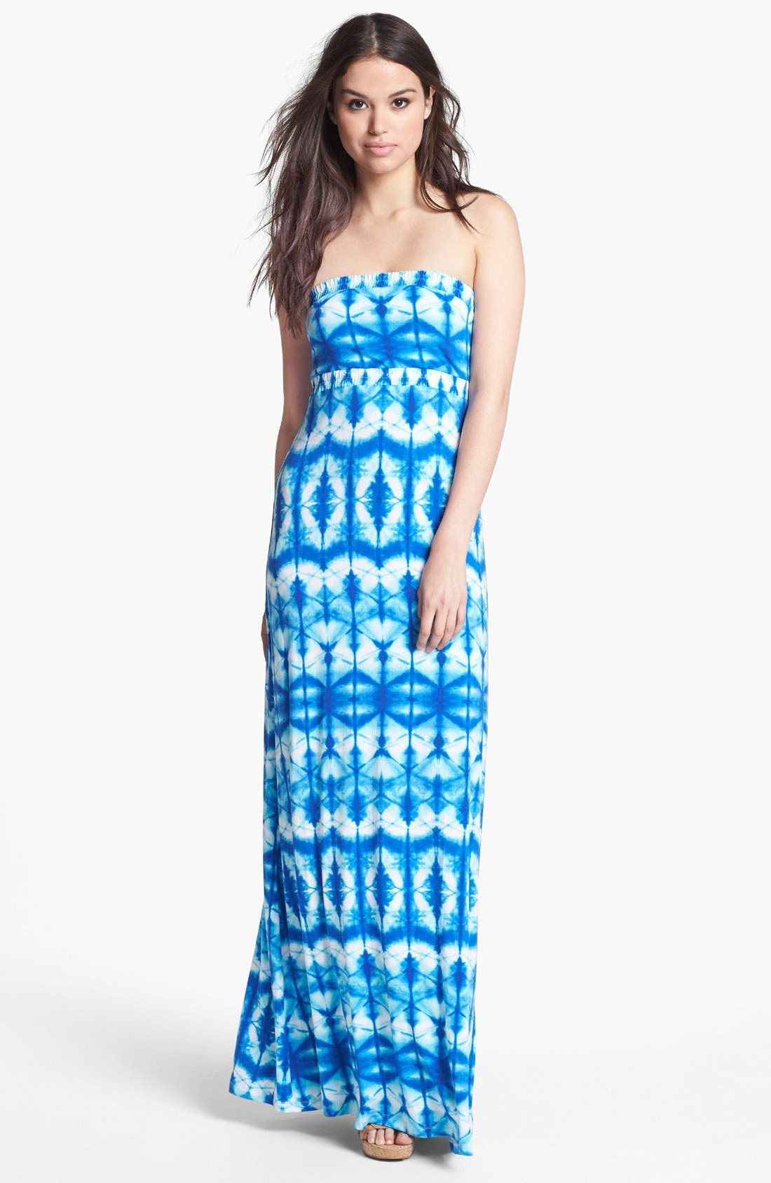 Alternate Image 1 Selected - Tart Strapless Print Maxi Dress