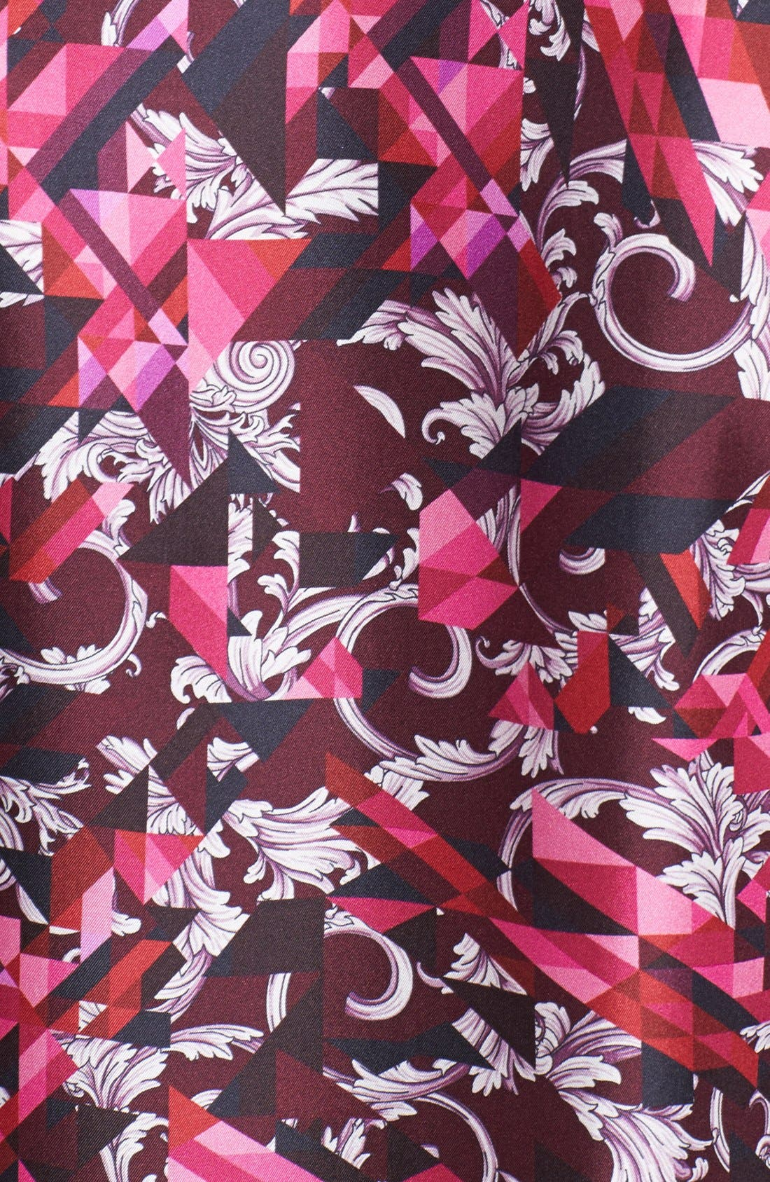 Alternate Image 3  - Versace Allover Geometric Print Woven Silk Shirt