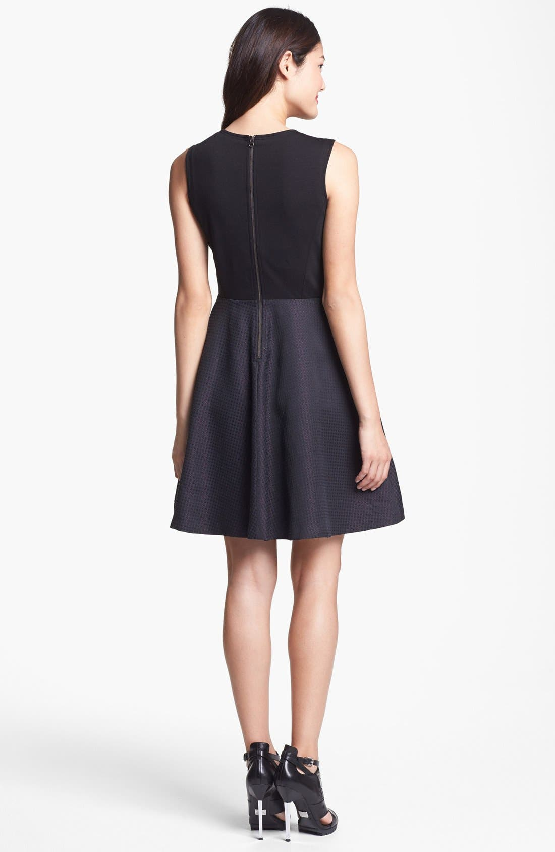 Alternate Image 2  - Halogen® Jacquard Fit & Flare Dress (Regular & Petite)