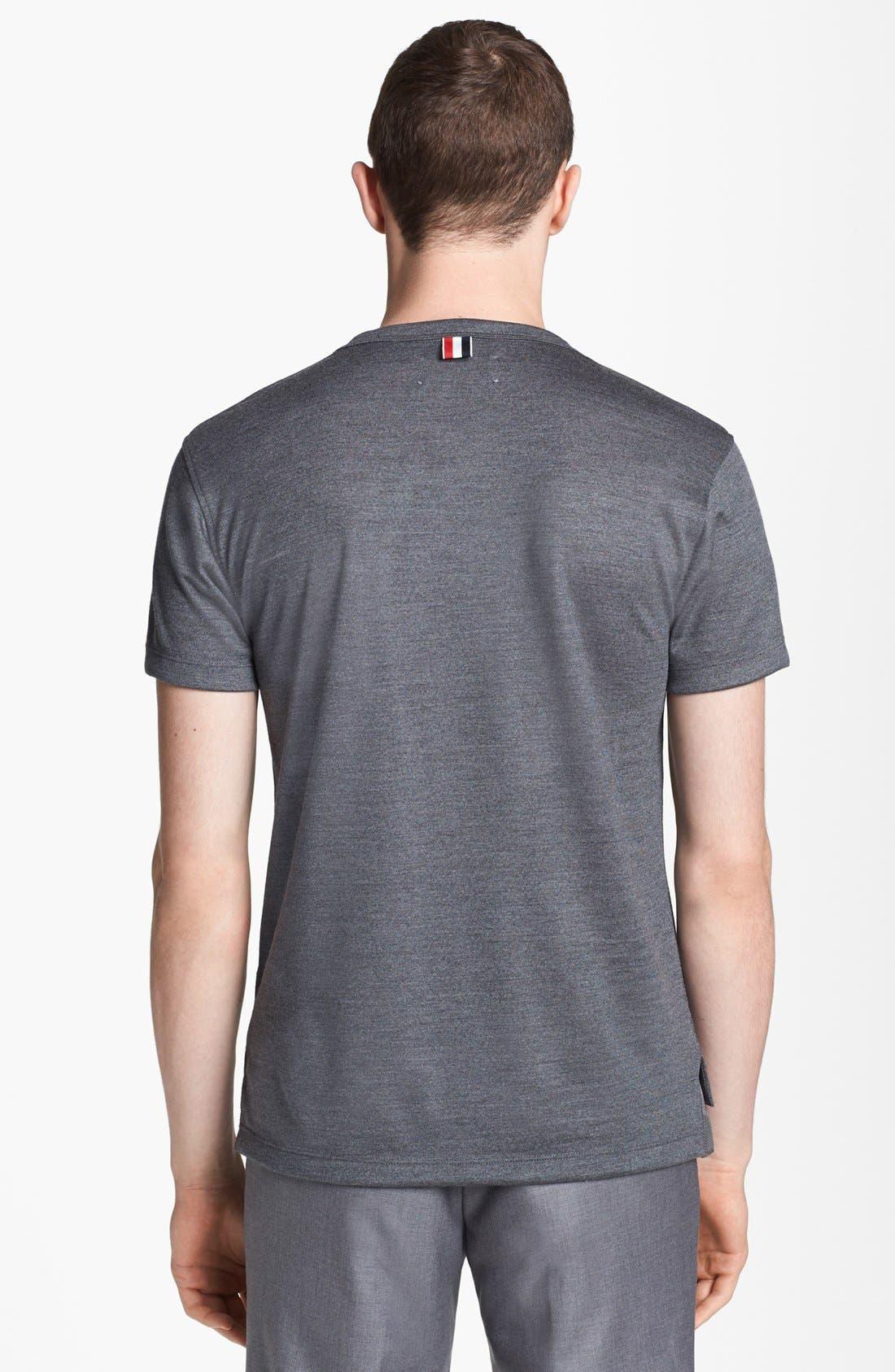 Alternate Image 2  - Thom Browne Merino Wool Pocket T-Shirt