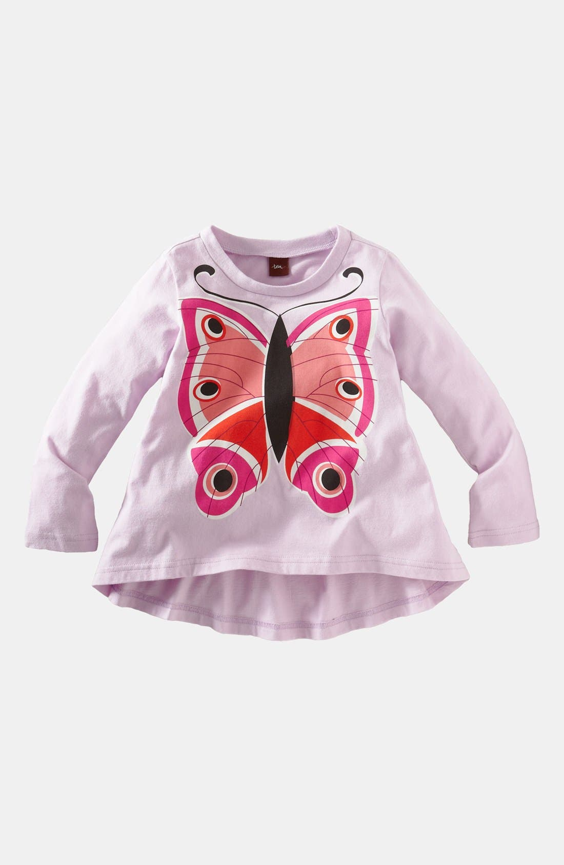 Main Image - Tea Collection 'Butterfly' Long Sleeve Tee (Little Girls & Big Girls)
