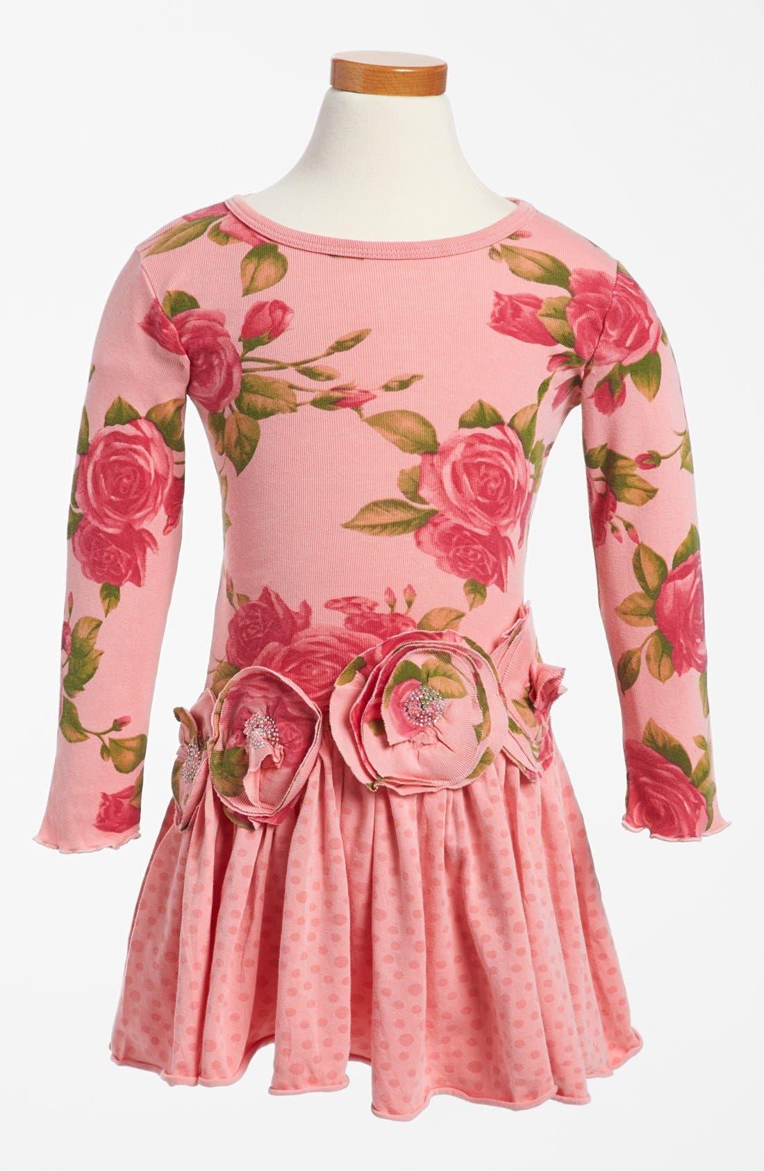 Main Image - Mignone Long Sleeve Drop Waist Dress (Toddler Girls)