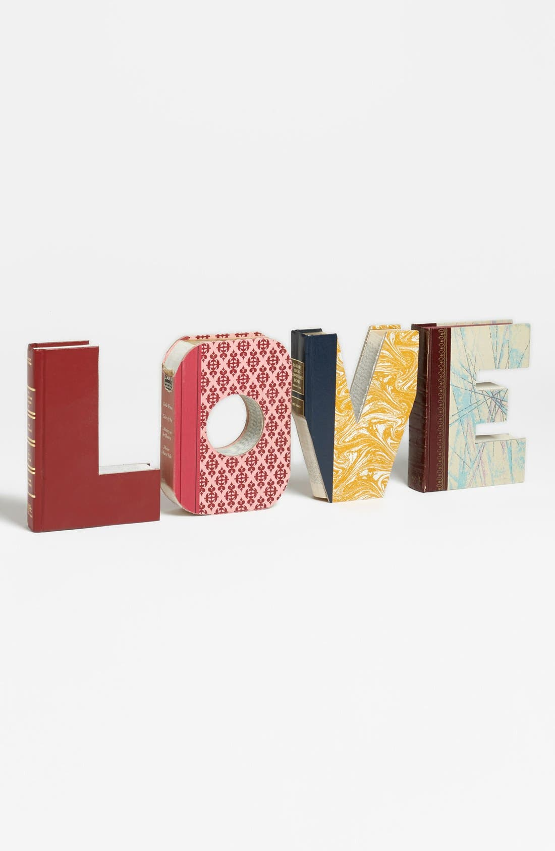 Alternate Image 1 Selected - Second Nature by Hand 'Love - One of a Kind' Hand-Carved Recycled Book Shelf Art
