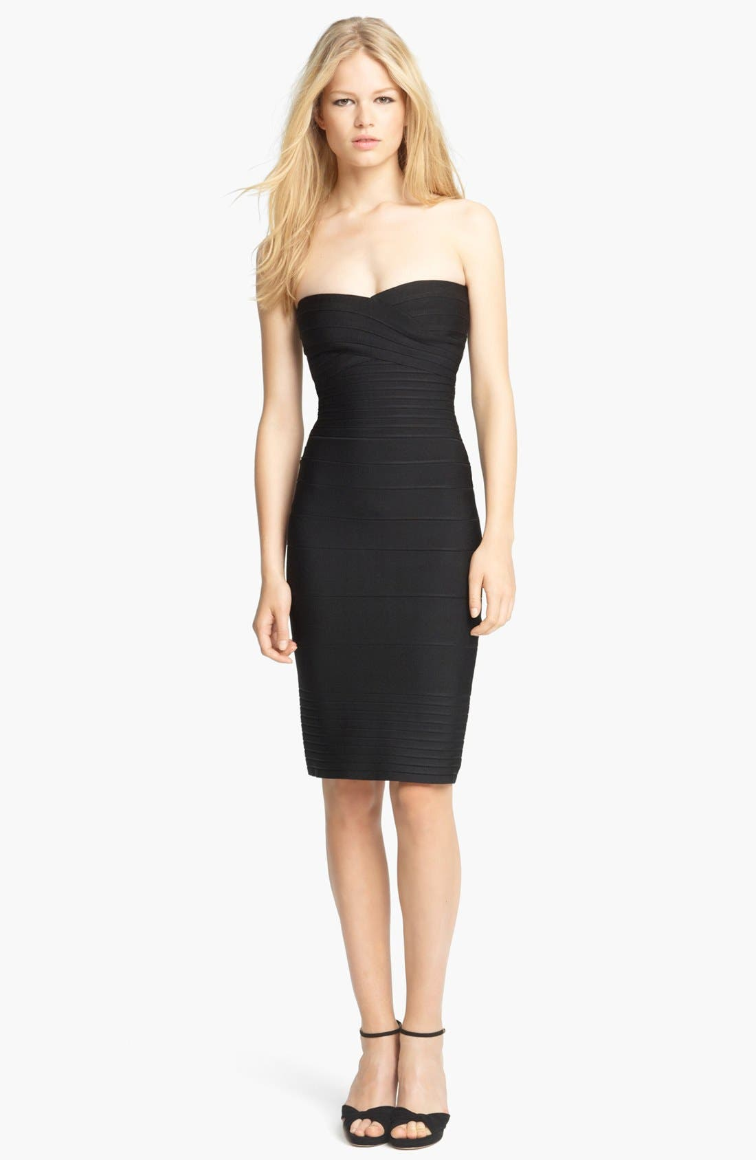 Main Image - Herve Leger Strapless Bandage Dress