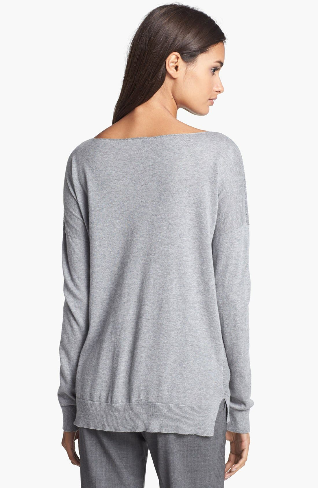 Alternate Image 2  - Theory Cotton & Cashmere Sweater